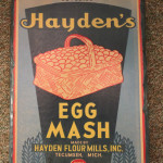 Haydens Egg Mash Sign
