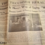 Tecumseh Herald World War 2 Newspaper